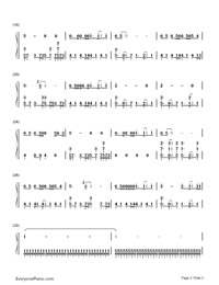 Asking Myself a Thousand Times Numbered Musical Notation Preview 2