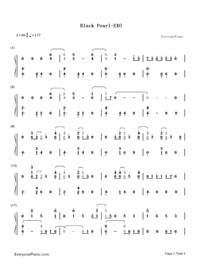 Black Pearl-EXO-Numbered-Musical-Notation-Preview-1