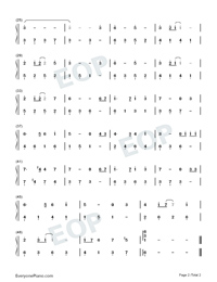 Castle in the Sky-Easy Version-Numbered-Musical-Notation-Preview-2