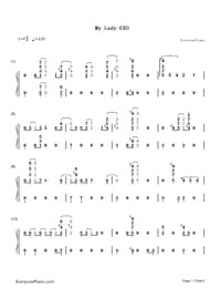 My Lady-EXO-Numbered-Musical-Notation-Preview-1