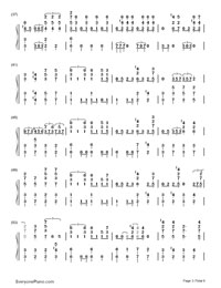 My Lady-EXO-Numbered-Musical-Notation-Preview-3
