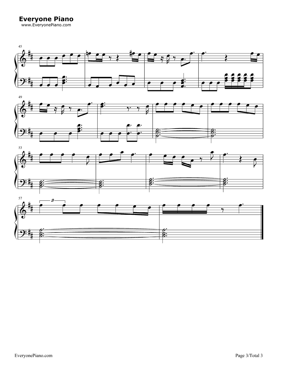 Powerful-Major Lazer Stave Preview 3-Free Piano Sheet Music u0026 Piano Chords