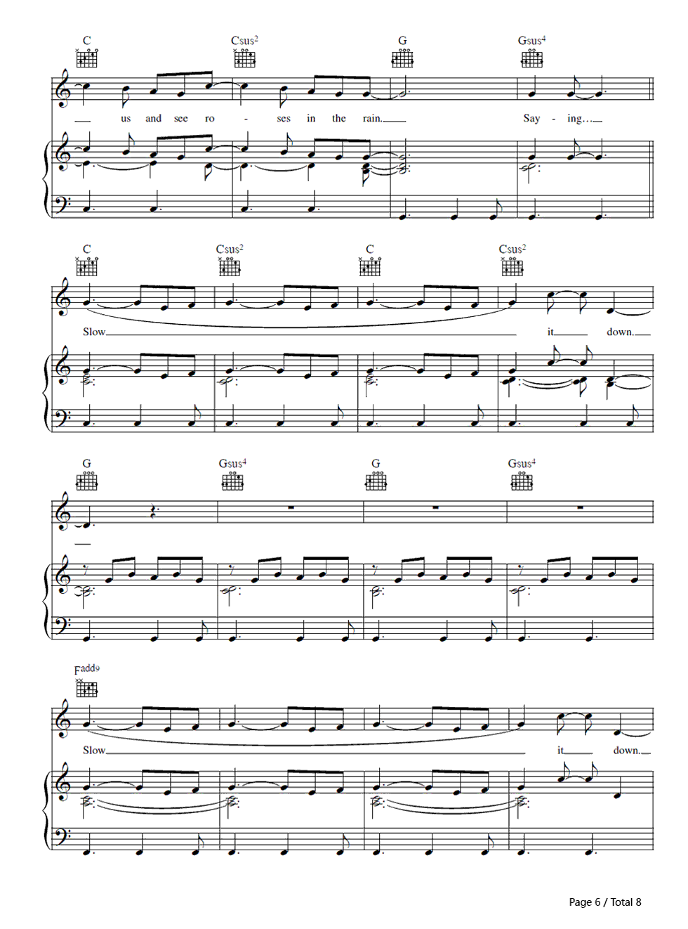 Us against the world coldplay free piano sheet music piano chords us against the world coldplay stave preview 6 hexwebz Choice Image