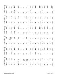 Mary's Boy Child-Christmas song Numbered Musical Notation Preview 3