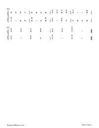 Mary's Boy Child-Christmas song Numbered Musical Notation Preview 5