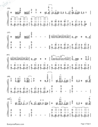 Sorry-Justin Bieber Numbered Musical Notation Preview 3