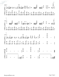 Sorry-Justin Bieber Numbered Musical Notation Preview 5