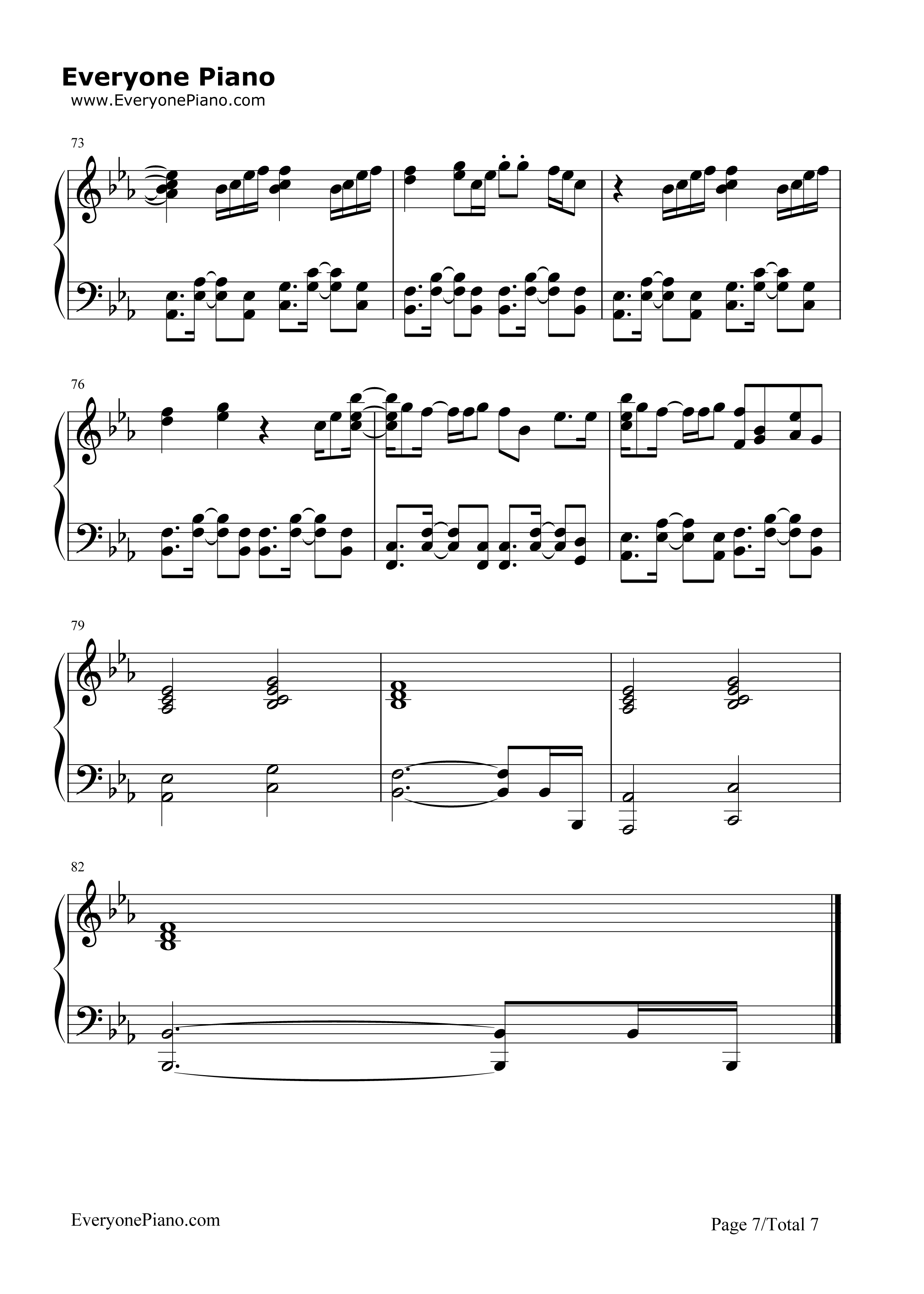 Sorry-Justin Bieber Stave Preview 7-Free Piano Sheet Music u0026 Piano Chords