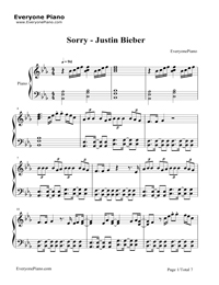 Sorry-Justin Bieber Stave Preview 1