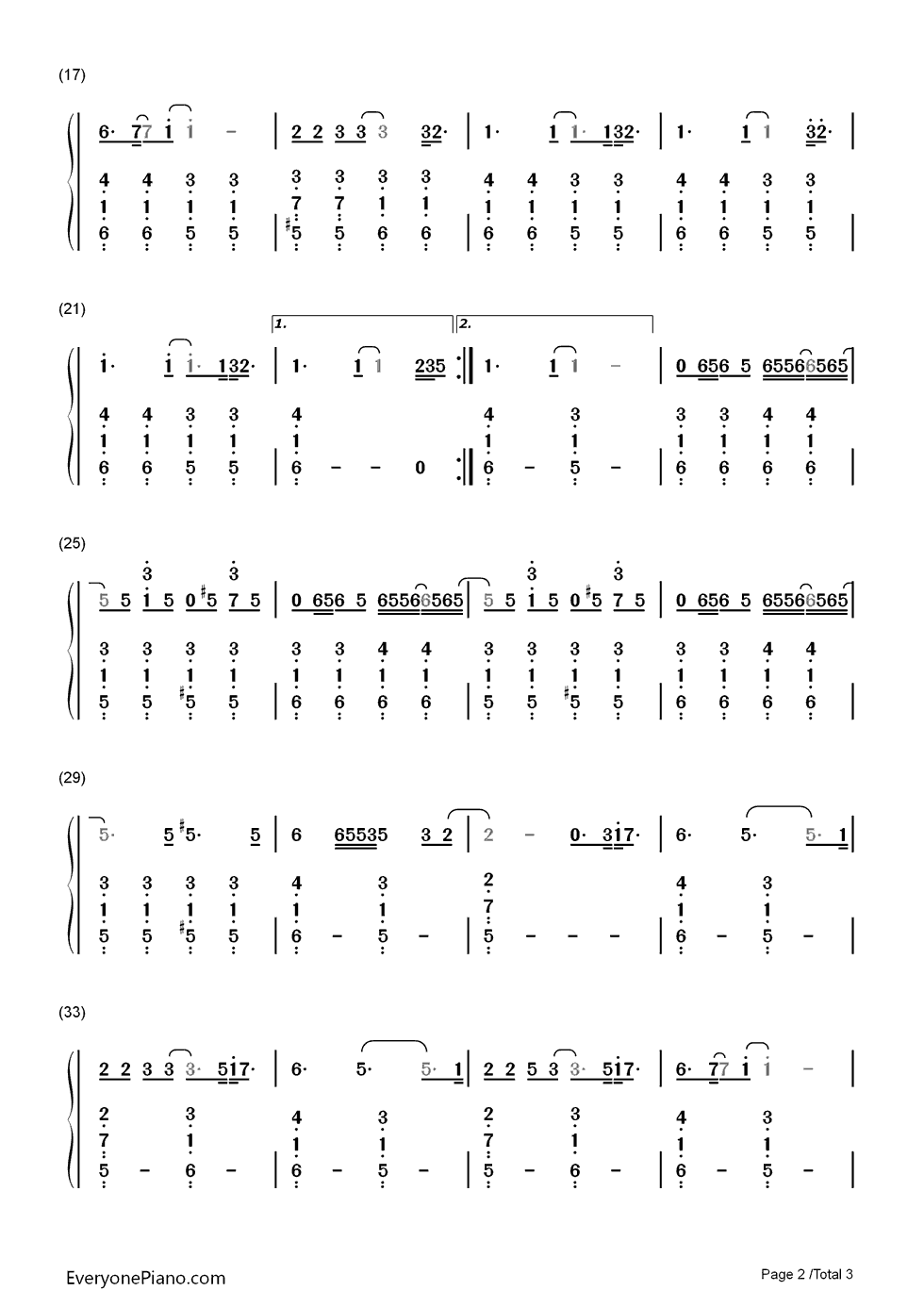 If i could fly one direction numbered musical notation preview 2 listen now print sheet if i could fly one direction numbered musical notation preview 2 hexwebz Image collections