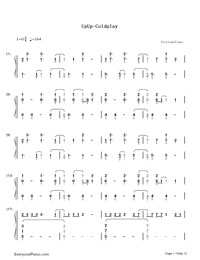 Up and Up-Coldplay-Numbered-Musical-Notation-Preview-1