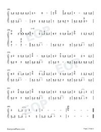 Bluestone Alley-ピアノタイル2 BGM両手略譜プレビュー2
