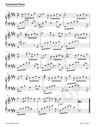 Bluestone Alley-ピアノタイル2 BGM五線譜プレビュー3