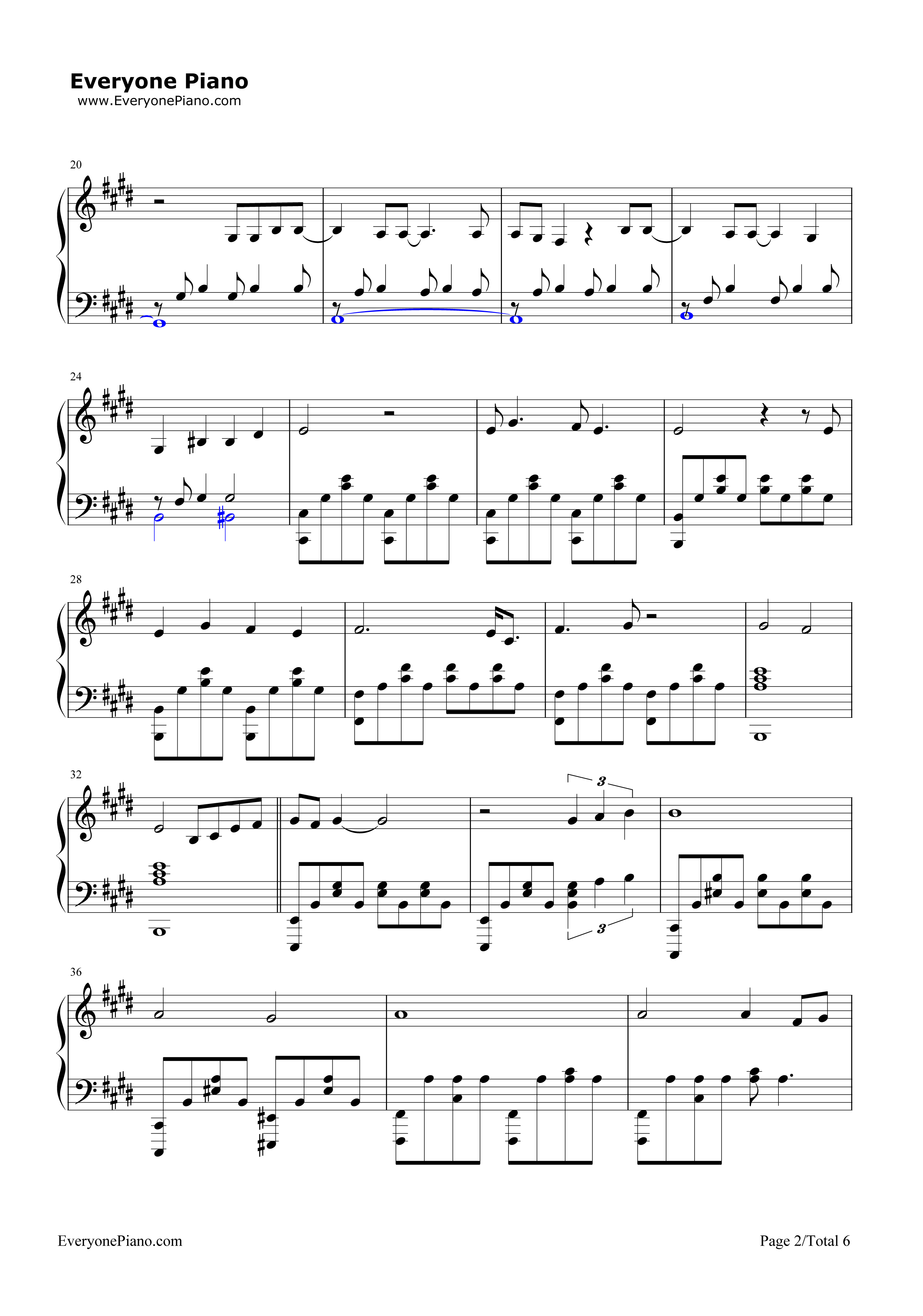 all in all piano sheet music pdf chords