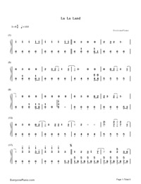 La La Land-Demi Lovato-Numbered-Musical-Notation-Preview-1
