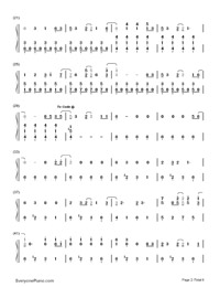 La La Land-Demi Lovato-Numbered-Musical-Notation-Preview-2