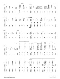 La La Land-Demi Lovato-Numbered-Musical-Notation-Preview-3
