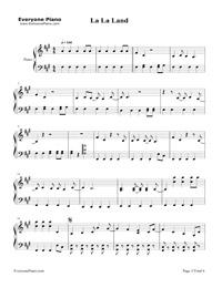 La La Land-Demi Lovato五線譜預覽1