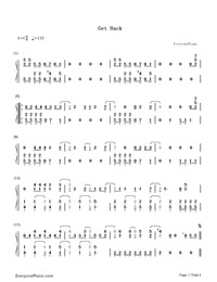 Get Back-Demi Lovato-Numbered-Musical-Notation-Preview-1