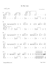 On the Line-Demi Lovato-Numbered-Musical-Notation-Preview-1