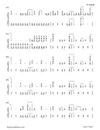 Gonna Get Caught-Demi Lovato-Numbered-Musical-Notation-Preview-3