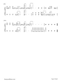 Gonna Get Caught-Demi Lovato-Numbered-Musical-Notation-Preview-6