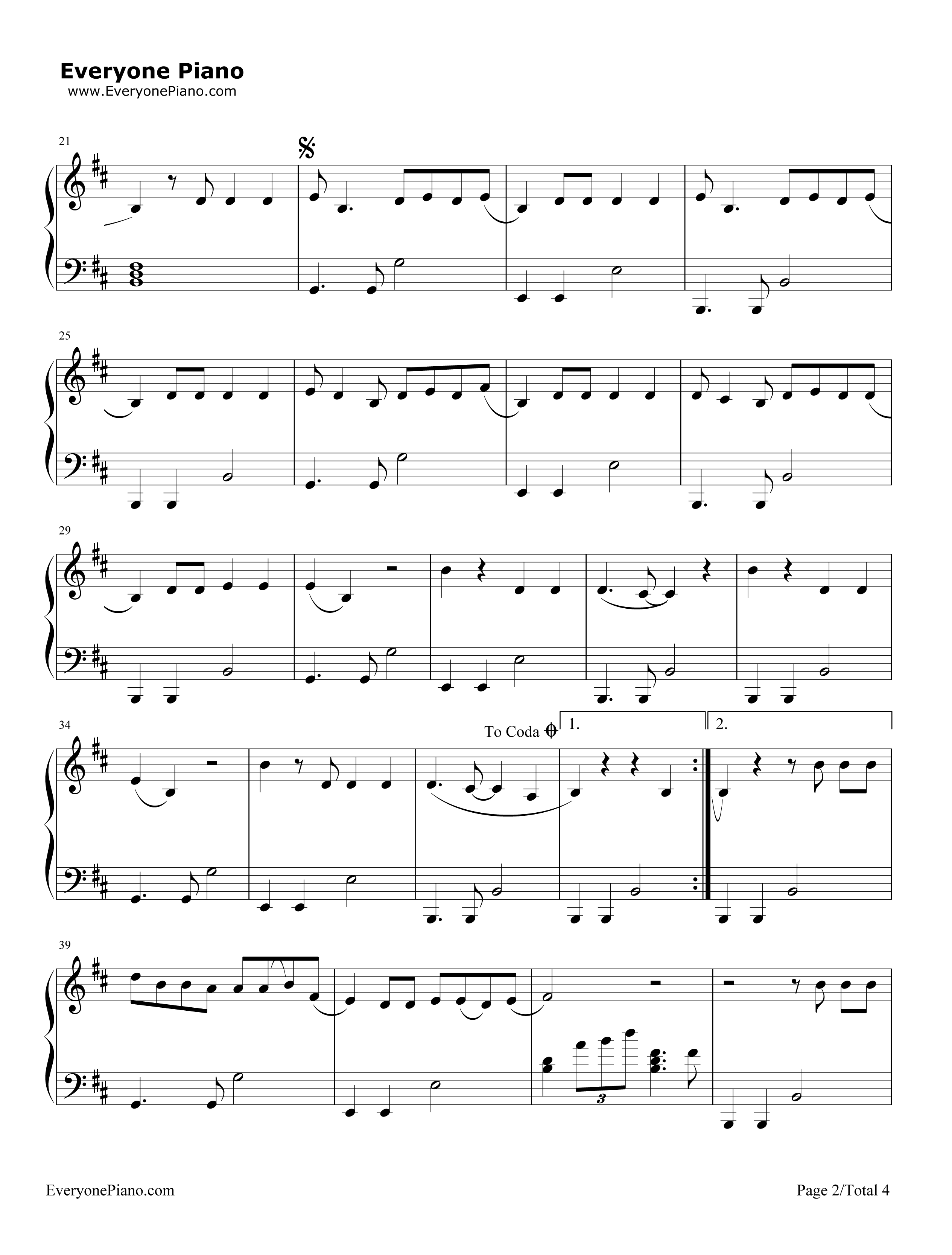 Art Deco Lana Del Rey Stave Preview 2 Free Piano Sheet