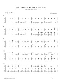 Don't Threaten Me with a Good Time-Panic at the Disco-Numbered-Musical-Notation-Preview-1