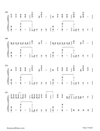 Don't Threaten Me with a Good Time-Panic at the Disco-Numbered-Musical-Notation-Preview-3