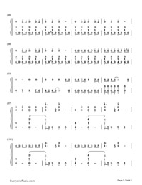 Don't Threaten Me with a Good Time-Panic at the Disco-Numbered-Musical-Notation-Preview-5