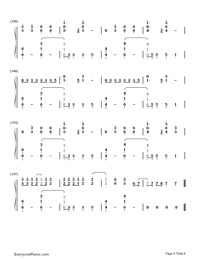 Don't Threaten Me with a Good Time-Panic at the Disco-Numbered-Musical-Notation-Preview-8