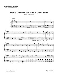 Don't Threaten Me with a Good Time-Panic at the Disco Stave Preview 1