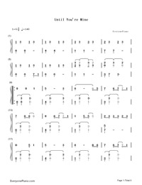 Until You're Mine-Demi Lovato-Numbered-Musical-Notation-Preview-1