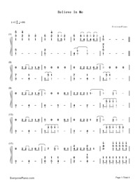 Believe in Me-Demi Lovato-Numbered-Musical-Notation-Preview-1