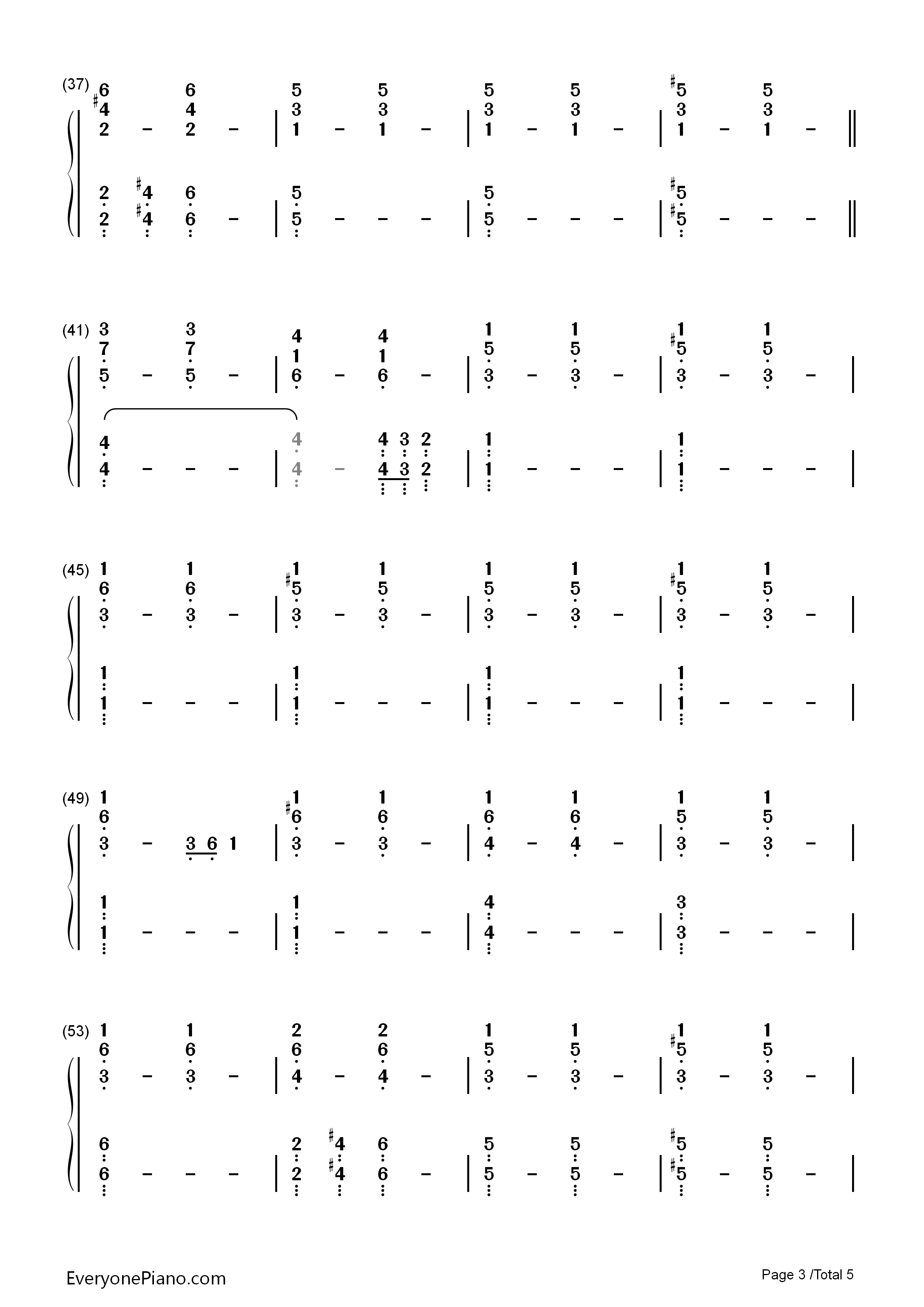 Impossible year panic at the disco numbered musical notation listen now print sheet impossible year panic at the disco numbered musical notation preview 3 hexwebz Images