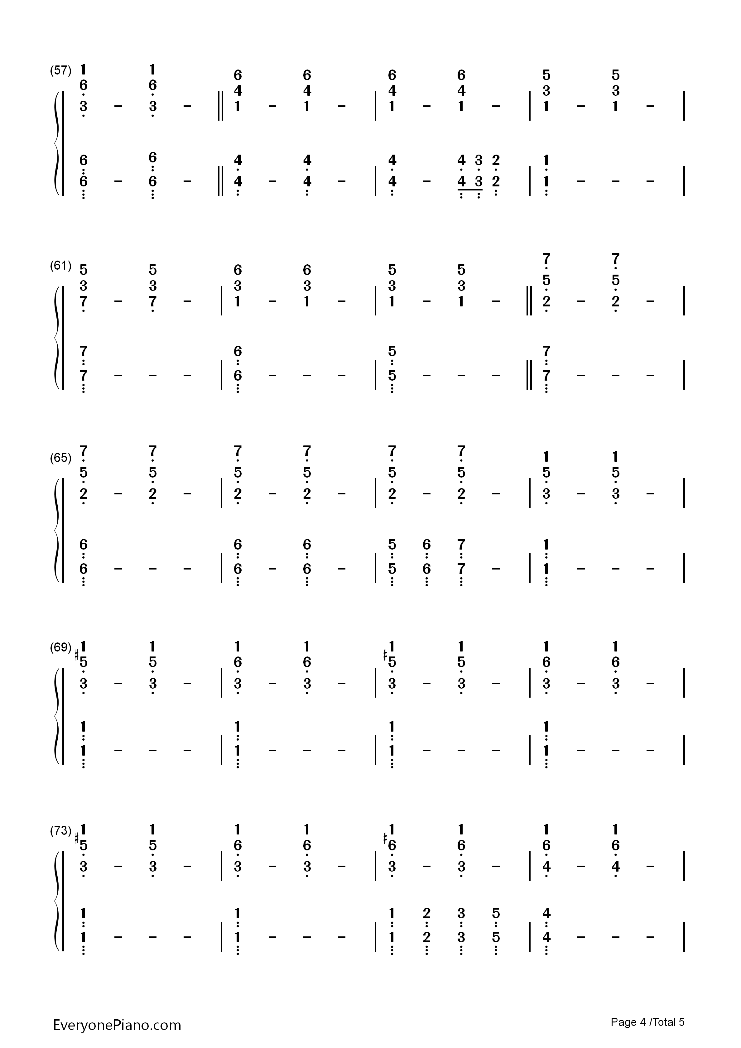 Impossible year panic at the disco numbered musical notation listen now print sheet impossible year panic at the disco numbered musical notation preview 4 hexwebz Images