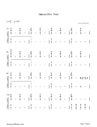 Impossible Year-Panic at the Disco-Numbered-Musical-Notation-Preview-1