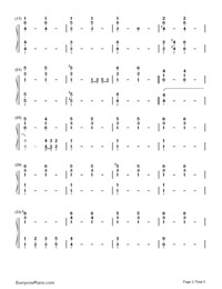 Impossible Year-Panic at the Disco-Numbered-Musical-Notation-Preview-2