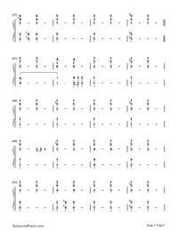 Impossible Year-Panic at the Disco-Numbered-Musical-Notation-Preview-3