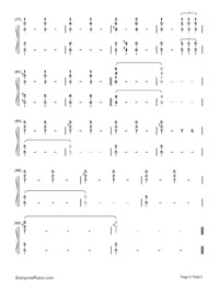 Impossible Year-Panic at the Disco-Numbered-Musical-Notation-Preview-5