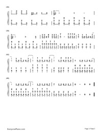 Sparks Fly-Taylor Swift-Numbered-Musical-Notation-Preview-3