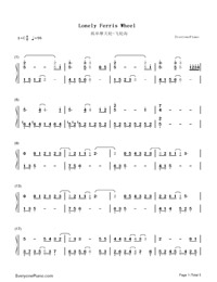 Lonely Ferris Wheel-Fahrenheit-Numbered-Musical-Notation-Preview-1