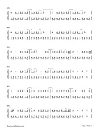 Lonely Ferris Wheel-Fahrenheit-Numbered-Musical-Notation-Preview-3