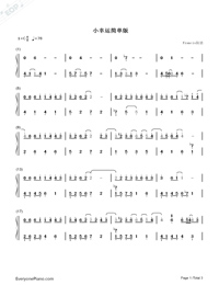 Simple Happiness-Easy Version-Numbered-Musical-Notation-Preview-1