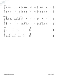 Simple Happiness-Easy Version Numbered Musical Notation Preview 3