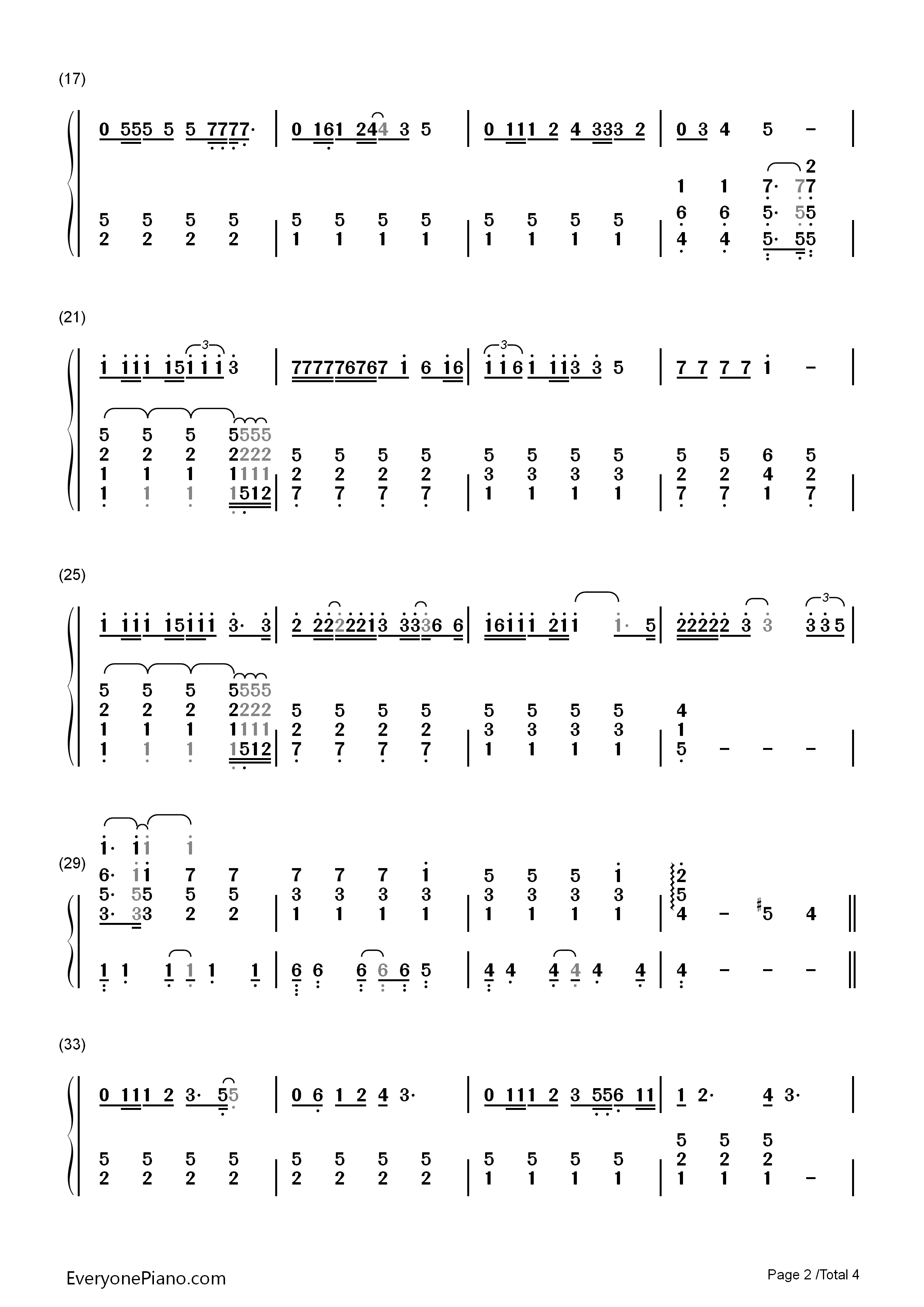 The Wild Child-Su Yunying Numbered Musical Notation Preview 2