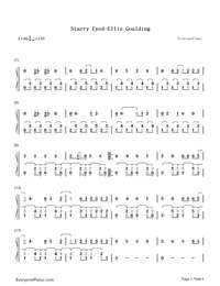Starry Eyed-Kick-Ass OST-Numbered-Musical-Notation-Preview-1