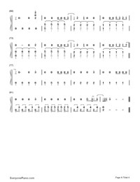 Starry Eyed-Kick-Ass OST-Numbered-Musical-Notation-Preview-4