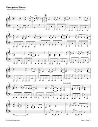 Solo-Demi Lovato五線譜プレビュー2