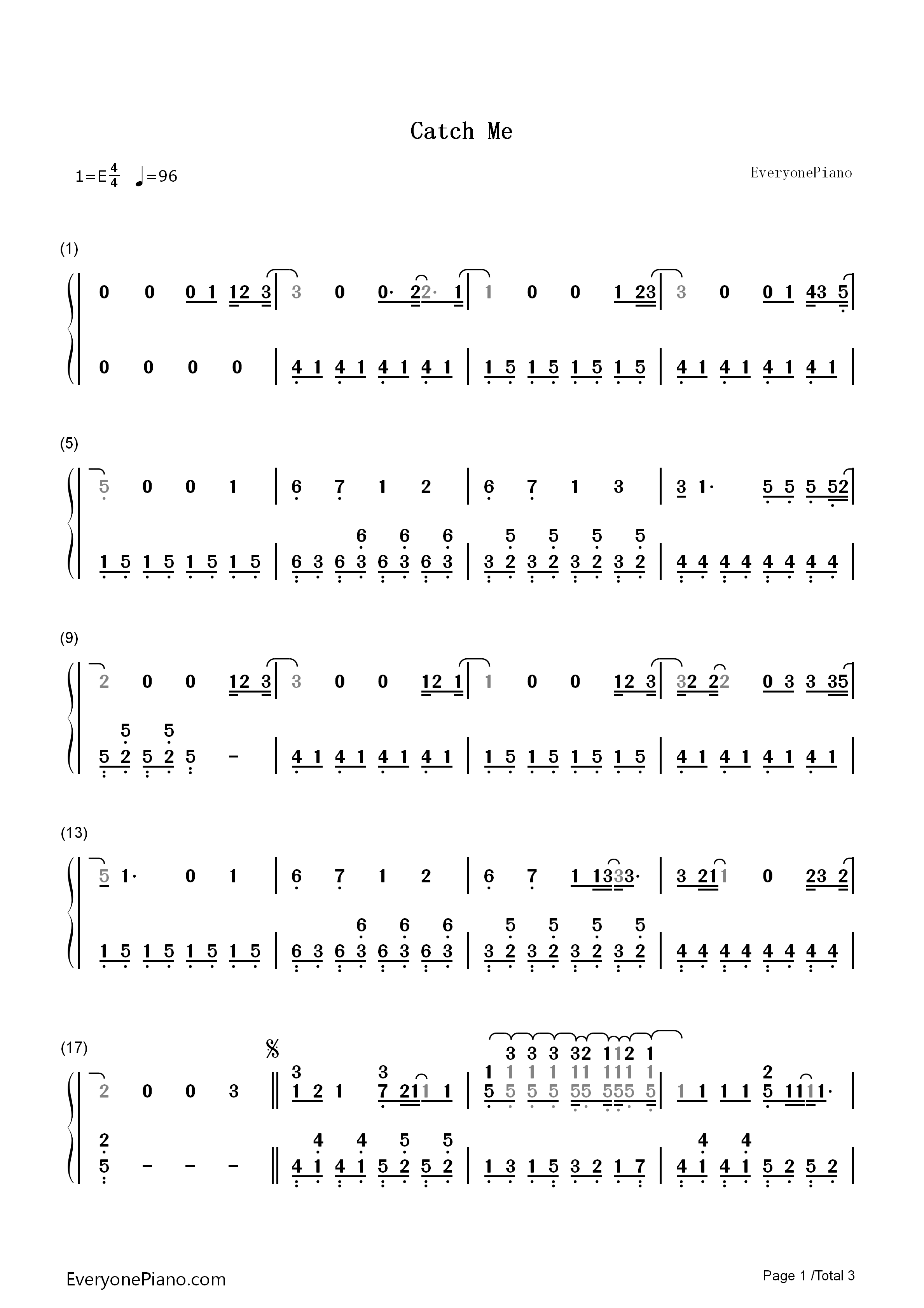 Catch me demi lovato numbered musical notation preview 1 free listen now print sheet catch me demi lovato numbered musical notation preview 1 hexwebz Gallery
